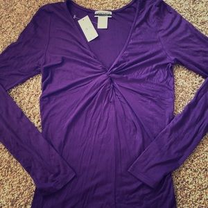 NWT Long sleeve plum colored top